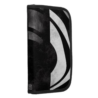 Black and White Abstract Grunge Folio Planner