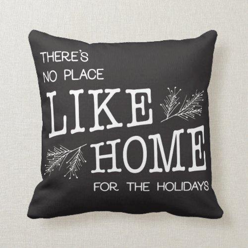Black and White Christmas Home Pillow