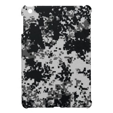 Black and White Digital Camouflage iPad Mini Case