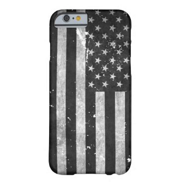 Black and White Grunge American Flag Barely There iPhone 6 Case