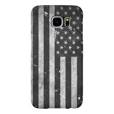 Black and White Grunge American Flag Samsung Galaxy S6 Case