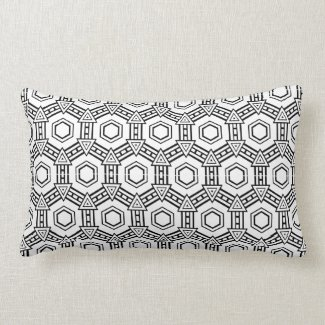 Black and White Optical Pattern Lumbar Pillow