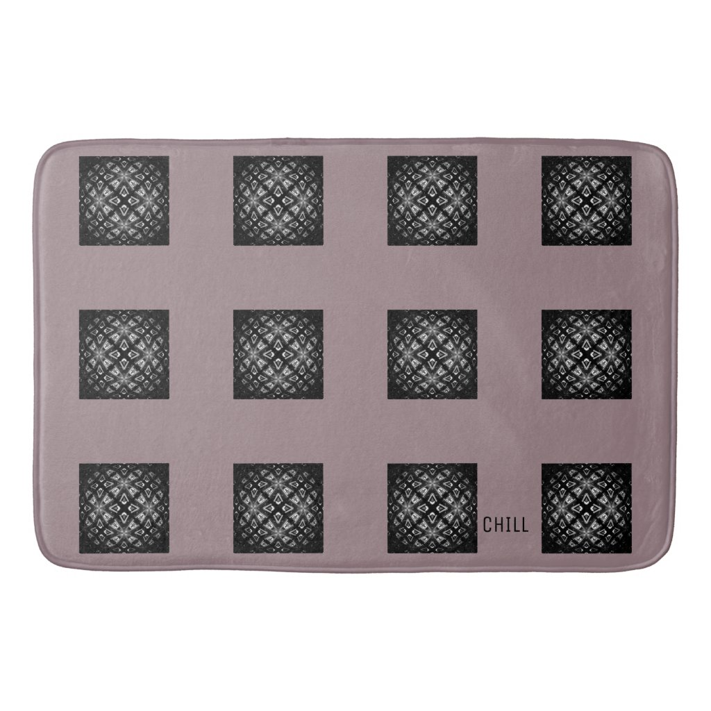 Black and White Pattern Chill Bath Mat