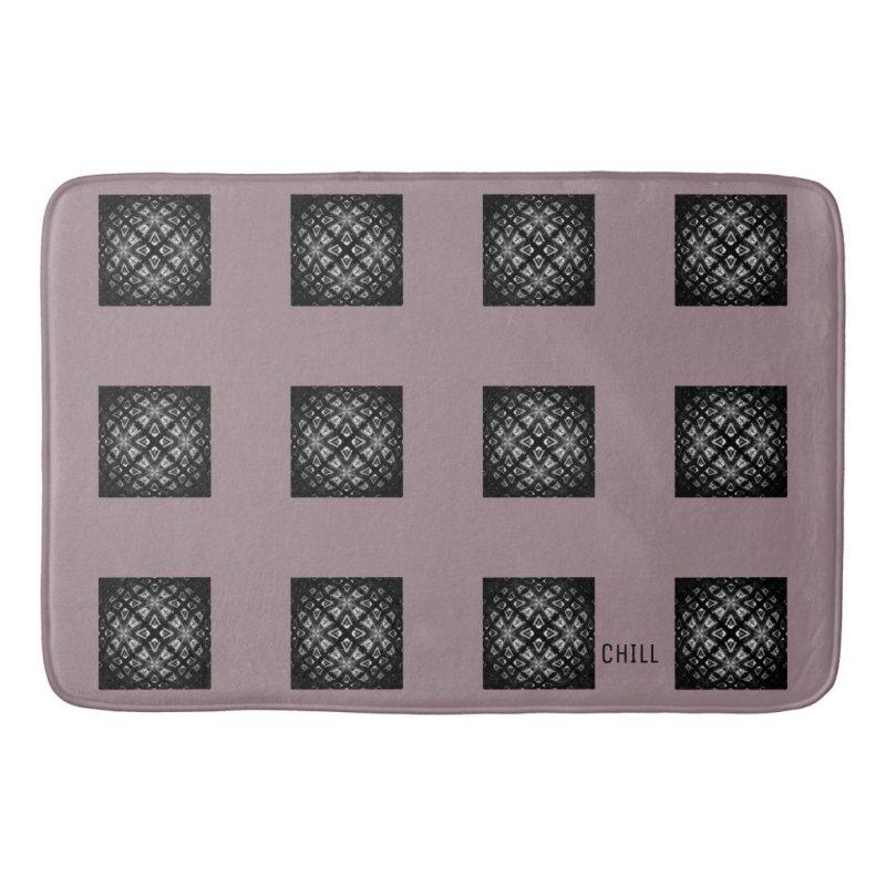 Black and White Pattern Chill Bath Mat