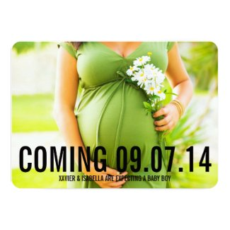 Black Bold | Custom Text Pregnancy Announcement