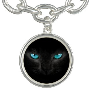 Black Cat Blue Eyes Bracelet