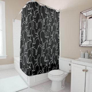 Black Cat Friday Shower Curtain