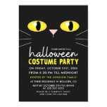 Black Cat Halloween Costume Party Invitation