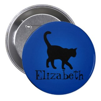 *Custom Name* Black Cat Pins