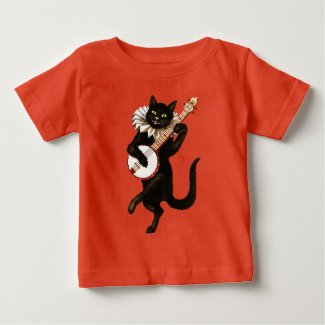 Banjo Black Cat Shirt for Baby