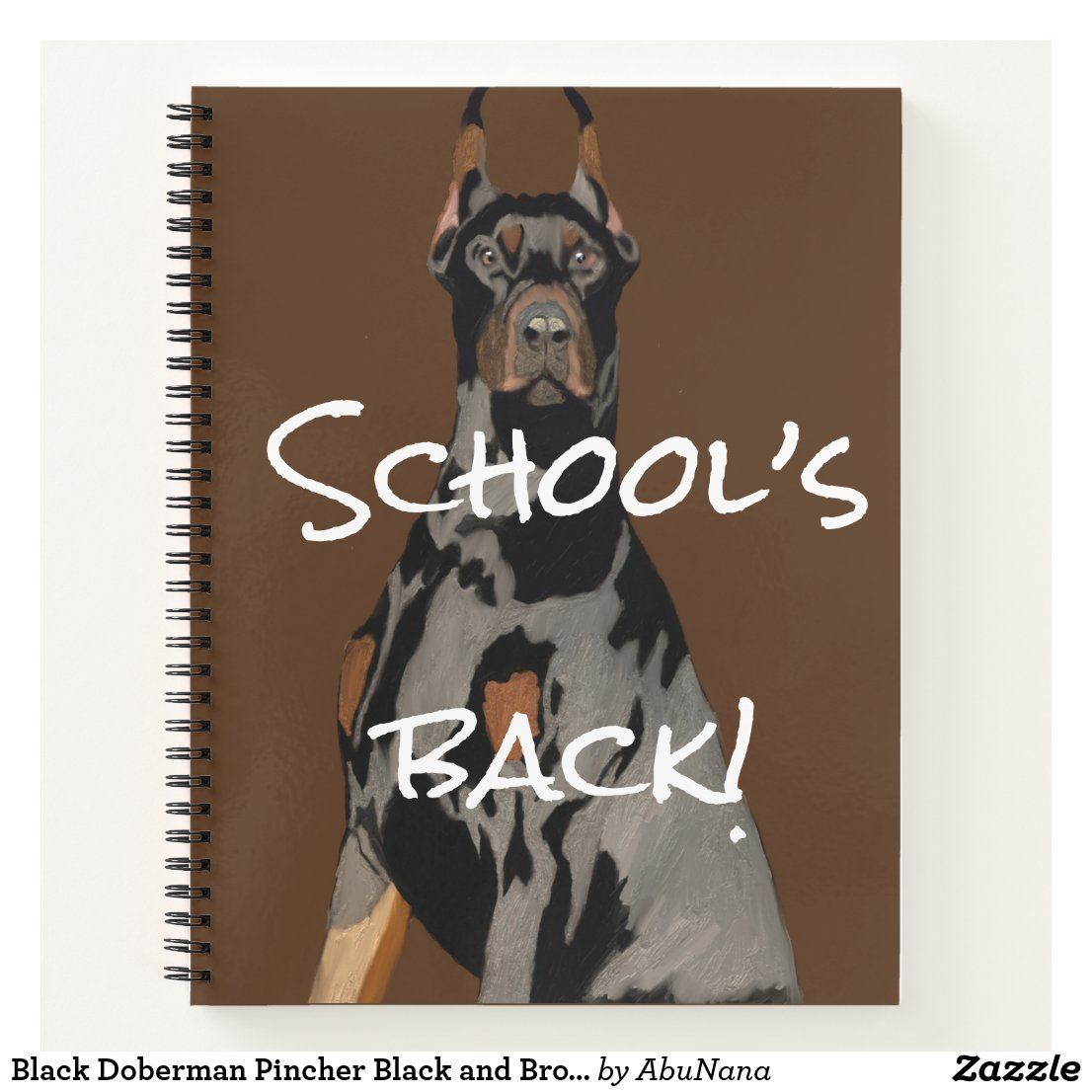 Black Doberman Pincher Black and Brown Notebook