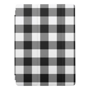 Black Gingham Pattern iPad Pro Cover