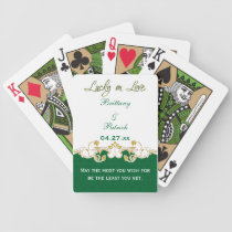 Black Glitter Snowflakes Wedding Playing Cards