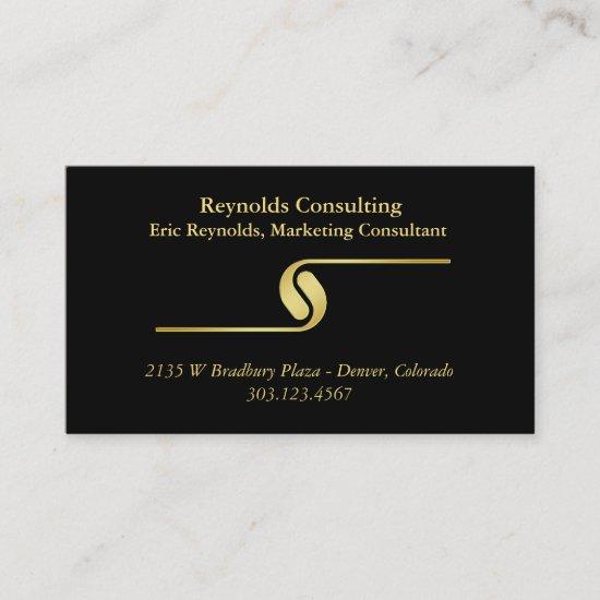 Black Gold Logo Divider Business Card