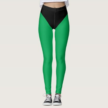 Black & Green Superhero Tights