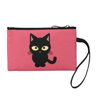 Black Kitten Coin Purse