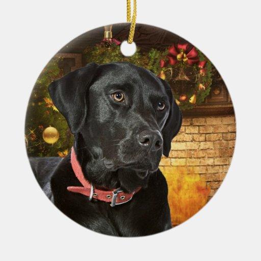 Black Lab Christmas Ornament Zazzle