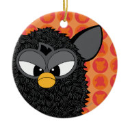 Black Magic Furby Christmas Ornaments