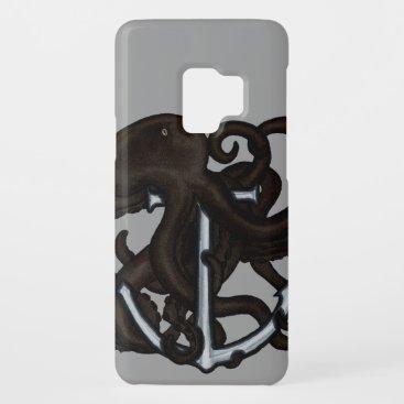 Black Octopus Over Anchor Case-Mate Samsung Galaxy S9 Case