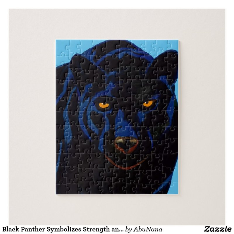 Black Panther Symbolizes Strength and Courage Jigsaw Puzzle