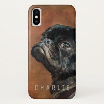 Black Pug Dog iPhone XS Case