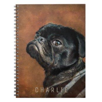 Black Pug Dog Notebook