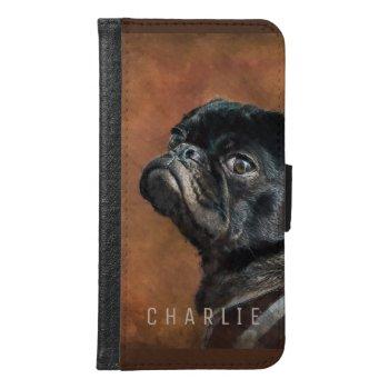 Black Pug Dog Samsung Galaxy S6 Wallet Case