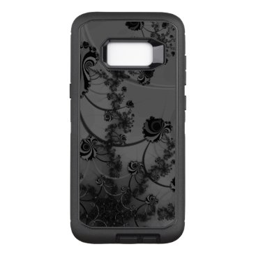 Black Roses Fractal Gothic Flowers OtterBox Defender Samsung Galaxy S8  Case
