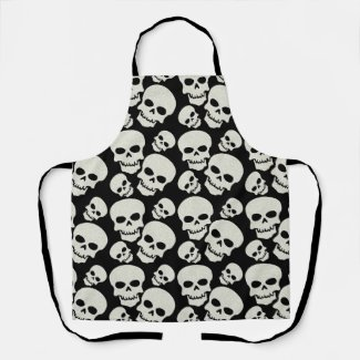 Black Skull Design Apron