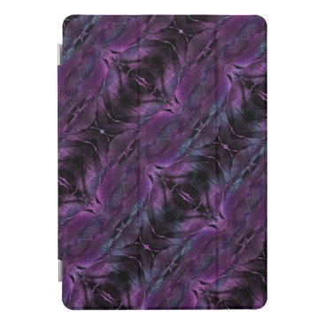 Black Violet Purple Feathered Diagonal Design iPad Pro Cover