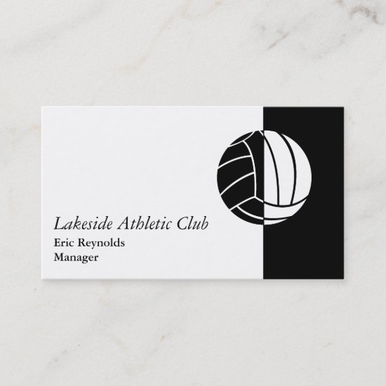 Black White Athletic Ball Logo Business Card