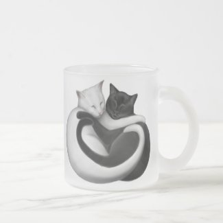 Black & White Love Cats Mug