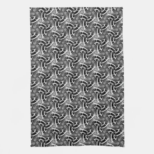 Black White Pattern: Scifi Swirl Kitchen Tea Cloth Kitchen Towels