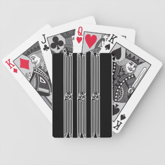 Black & White Swirl Burst Bicycle Poker Deck