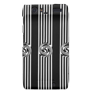 Black & White Swirl Burst Motorola Droid RAZR Cover