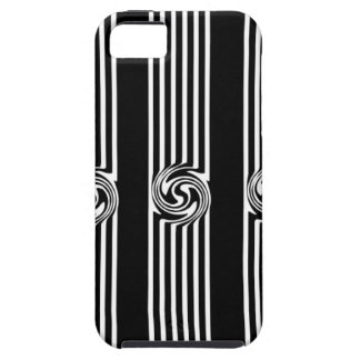Black & White Swirl Burst iPhone 5 Covers