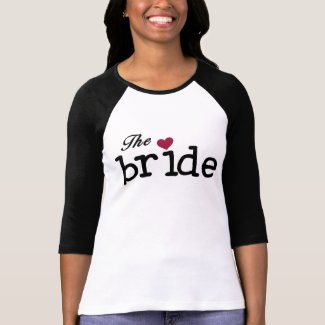 Black with Red Heart Bride shirt