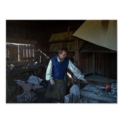 Blacksmith at Fort Osage Fort, Missouri Poster