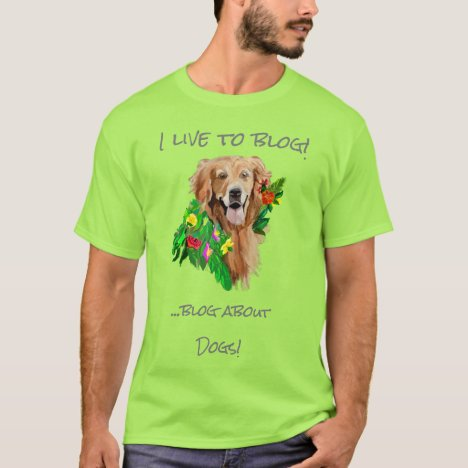 Bloggers Simple Editable Quote Golden Retriever