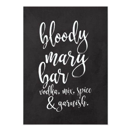 Bloody Mary Bar Affordable Chalkboard Wedding Sign Invitation