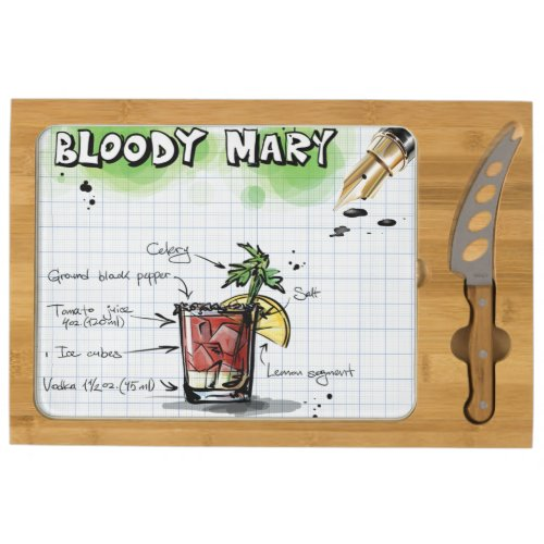 Bloody Mary Cheese Platter