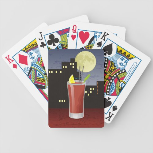Bloody mary cocktail bicycle playing cards