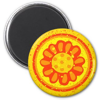 Blossoming Sun Magnet magnet