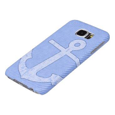 Blue Anchor Stripes Samsung Galaxy S6 Case