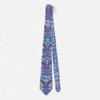 Blue Angel Pattern Art Tie