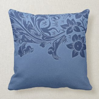 blue custom pillow
