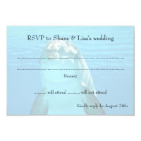 Blue Dolphin Wedding Reply RSVP Cards