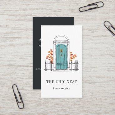 Blue Door | Home Staging or Interior Design Business Card