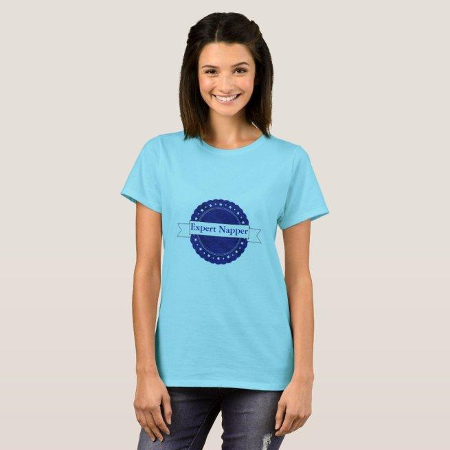 Blue Expert Napper Badge T-Shirt