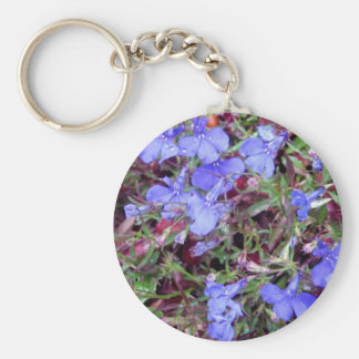 Blue Flower in California Key Chains
